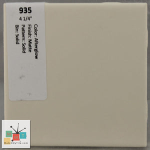 "MMT-935 Vintage 4 1/4"" Ceramic 1 pc Wall Tile Afterglow Tan Matte"