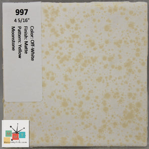 "MMT-997 Vintage 4 5/16"" Ceramic 1 pc Wall Tile Off-White Yellow Moonstone Matte"