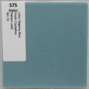 "MMT-575 Vintage 4 1/4"" Ceramic Wall Tile Stylon Regency Blue Crystalline"