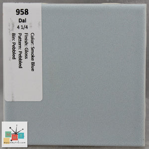 "MMT-958 Vintage 4 1/4"" Ceramic 1 pc Wall Tile Daltile Blue Crystalline Glossy"
