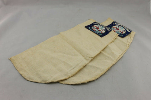 N-230 Two Vintage Linen Pocket Liners Cream of the Crop Black Americana