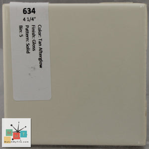 "MMT-634 Vintage 4 1/4"" Ceramic 1 pc Wall Tile Tan Afterglow Tan Glossy"