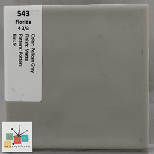 "MMT-543 Vintage 4 3/8"" Ceramic 1 pc Wall Tile FT Pelican Gray Potters Matte"