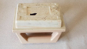 BA-325 Vintage Ceramic Peach Soap Dish & Towel/Grab Handle Fairfacts Co