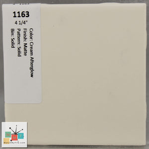 "MMT-1163 Vintage 4 1/4"" Ceramic 1 pc Wall Tile Cream Afterglow Tan Matte"