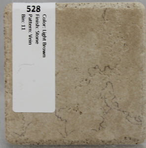 "MMT-528 Vintage 3 3/4"" Ceramic 1 pc Wall Tile Light Brown Patterns Vein Stone"