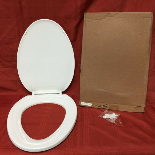 TS-67 NOS Toilet Seat with Lid White Elongated Front