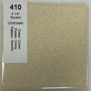 "MMT-410B Vintage 4 1/4"" Ceramic 1 pc Wall Tile Cam Cream Speckle Bullnose Glossy"