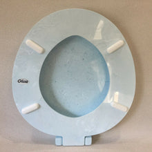Load image into Gallery viewer, TS-15 Vintage Lt Blue Pearl Olsonite Toilet Seat Hardware Lid Round Regular Bowl