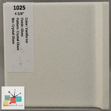 "Load image into Gallery viewer, MMT-1025C Vintage 4 3/8"" Ceramic 1 pc Tile Vanilla Ice Crystal Glaze Gloss Mudcap"