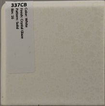 "Load image into Gallery viewer, MMT-337CB Vintage 4 1/4"" Ceramic Tile White Dapple Crystal Glaze Corner Bullnose"