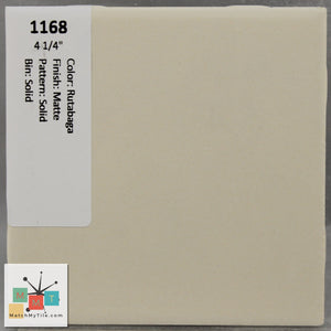 "MMT-1168 Vintage 4 1/4"" Ceramic 1 pc Wall Tile Tan Matte"