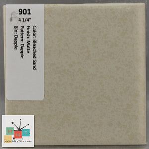 "MMT-901 Vintage 4 1/4"" Ceramic 1 pc Wall Tile Bleached Sand Dapple Matte"