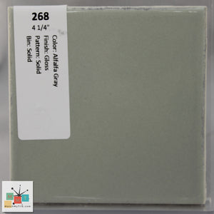 "MMT-268V Vintage 2x6"" Ceramic 1 pc Wall Tile Alfalfa Gray Glossy Cove"
