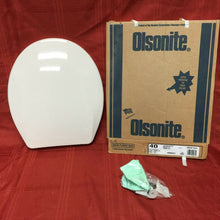 Load image into Gallery viewer, TS-54 NOS Olsonite Toilet Seat Ld Innocent Blush 40 Regular Bowl Top Mount Hinge
