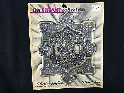 (I-1036) 1 NOS Vtg MCM Unique Light Switch Plate Double Toggle Decorative Cover