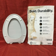 "Load image into Gallery viewer, TS-62 KohlerToilet Seat w LId Gray Elongated Bowl 18 5/8"" x 14 3/16"" No HW"