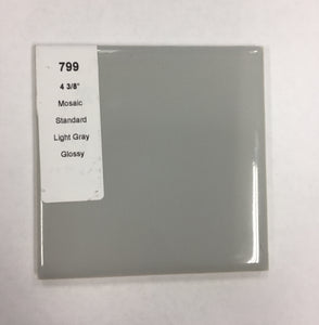 "MMT-799 Vintage 4 3/8"" Ceramic 1 pc Wall Tile Mosaic Gray Glossy"