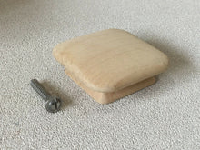 Load image into Gallery viewer, (H-09) VTG Mid Century Modern Waddell Unfinished Wood Drawer Single Square Knob
