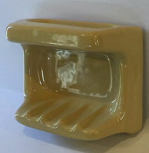 Load image into Gallery viewer, v8-a) Nos Vintage Golden Yellow Bathroom Accessory Soap Dish Grab Handle Glossy