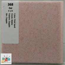 "Load image into Gallery viewer, MMT-368B Vintage 4 1/4"" Ceramic 1pc Tile Daltile Pink Sand Dapple Matte Bullnose"