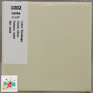 "MMT-1002 Vintage 4 1/4"" Ceramic 1 pc Wall Tile Lanka Tan Glossy"