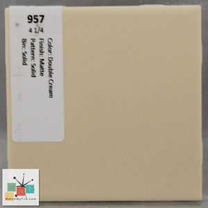 "MMT-957 Vintage 4 1/4"" Ceramic 1 pc Wall Tile Double Cream Tan Matte"
