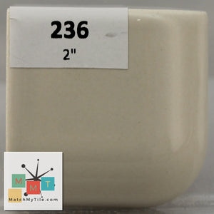 "MMT-236 Vintage 2"" Ceramic 1 pc Wall Tile Cloud Cream Tan Glossy"