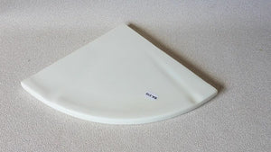 BA-310 NOS Composite Soap Dish White Large Corner Bathroom Shower 7.75""