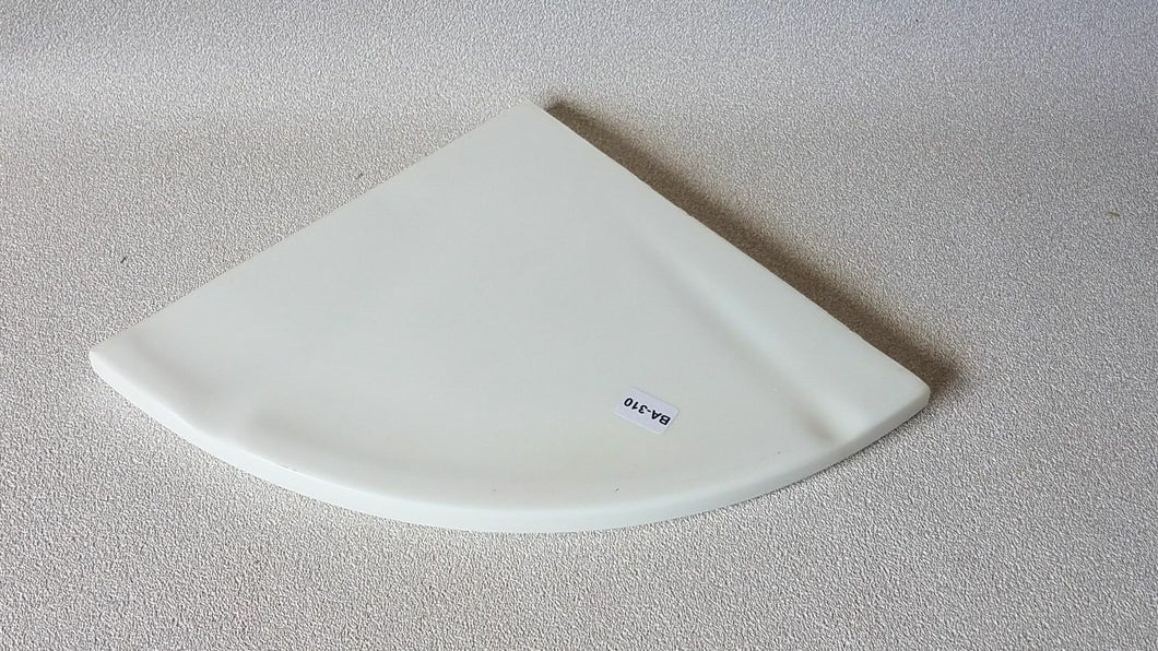 BA-310 NOS Composite Soap Dish White Large Corner Bathroom Shower 7.75