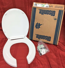 Load image into Gallery viewer, TS-42 NOS Olsonite Toilet Seat w LId White #42 Regular Bowl Top Mount Hinge