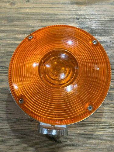 Signal Stratolite No 62 Round Amber Light Assembly w/ Unity Bracket Model 20110