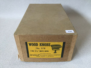 (H-07) MCM Waddell Wood Drawer Square Knobs Unfinished Set Of 12 in Original Box