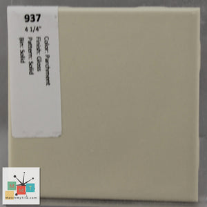 "MMT-937B Vintage 4 1/4"" Ceramic 1 pc Wall Tile Parchment Tan Glossy Bullnose"