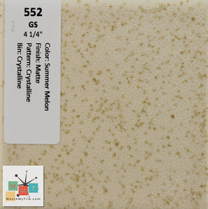 "MMT-552 Vintage 4 1/4"" Ceramic 1 pc Wall Tile Summer Melon Crystalline Matte"