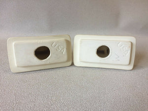 ba-1372) Ceramic Mid Century Modern Bathroom Harvest Towel Bar Rod Holders Set
