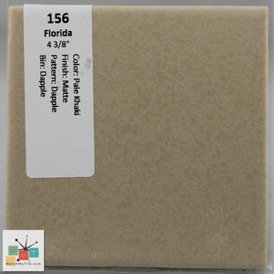 "MMT-156 Vintage 4 3/8"" Ceramic 1 pc Wall Tile FT Khaki Tan Dapple Matte"