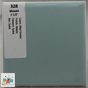 "MMT-328 Vintage 4 3/8"" Ceramic 1 pc Wall Tile Mosaic Mist Green Blue Matte"