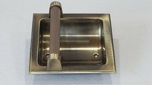 BA-1067NOS Vintage Carriage House Soap Dish NEW Old Stock Recessed Brass