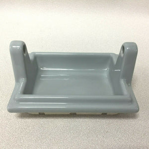 (BA-1139) NOS Vintage Ceramic Bathroom Gray Art Deco Toilet Paper Holder