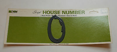 Vintage NOS Retro Plastic Leigh House Address Number Script Number Zero 0