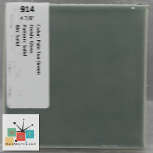 "MMT-914 Vintage 4 7/8"" Ceramic 1 pc Wall Tile Pale Tea Green Glossy"