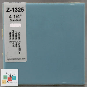 "MMT-1325 Vintage 4 1/4"" Ceramic 1 pc Wall Tile Angel Blue Glossy"