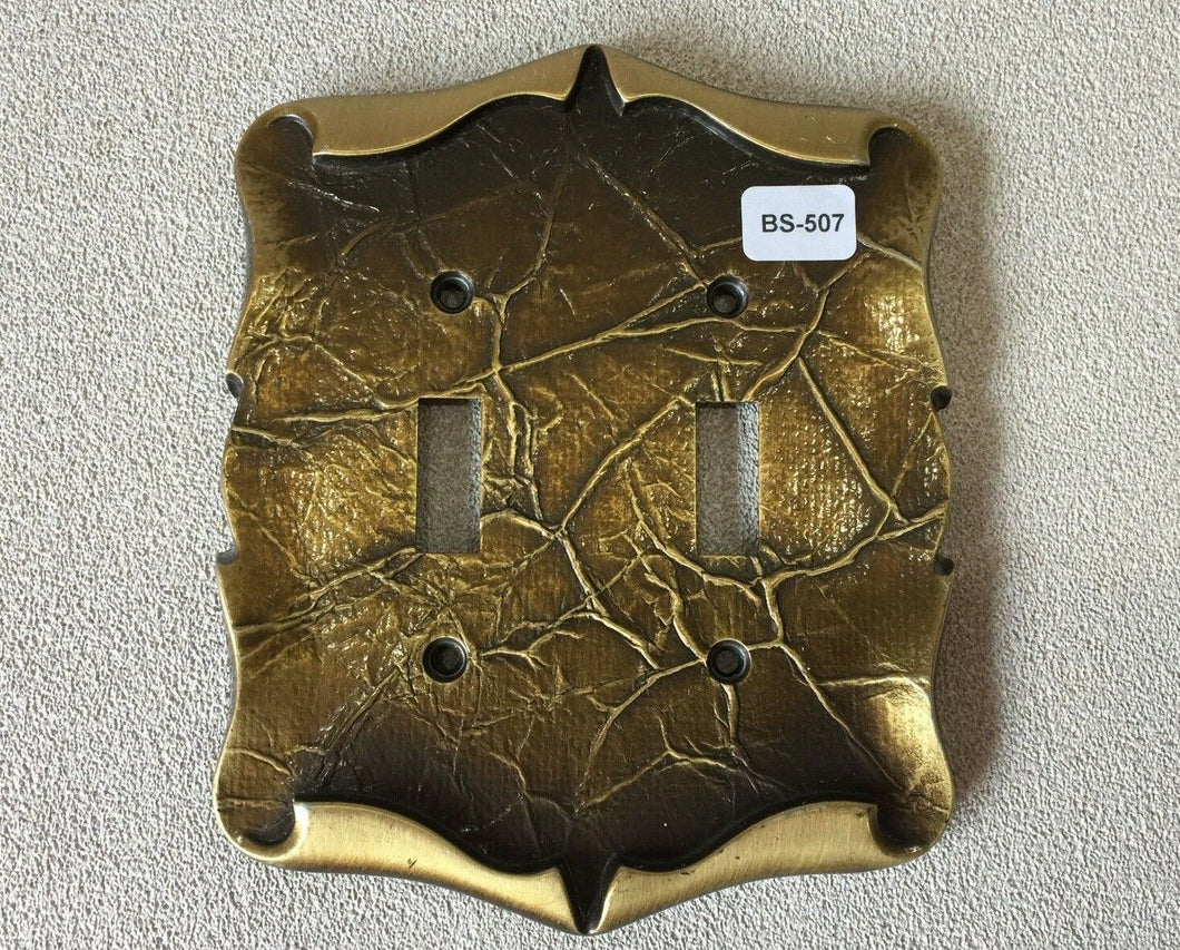 BA-507 Vintage NOS Amerock Carriage Double Switch Plate Cover MCM