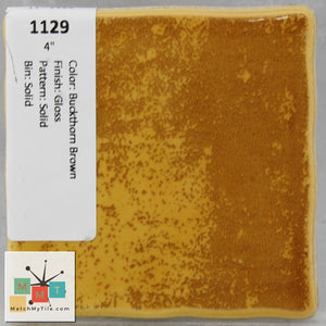 "MMT-1129 Vintage 4"" Ceramic 1 pc Wall Tile Buckthorn Brown Glossy"