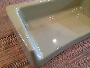 (I-546) 1964 Eljer Estate Toilet Avacado Green Vitreous China Planter Lid