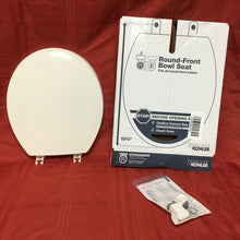 "Load image into Gallery viewer, TS-62 Kohler Toilet Seat w LId White Round-Front Bowl 16 5/8"" x 14 3/16"""