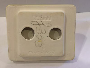 Ba-5) Vintage Sunny Ellow Ceramic Wall Mount Toilet Tissue Paper Holder Nos