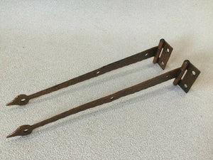 H-19 Vintage T-STRAP HINGES Hammered Copper Painted Rustic Flush Doors McKinney