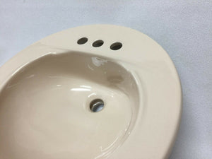 "BS-505 Reclaimed American Standard SHELL Ceramic Bathroom Sink 19"" round"